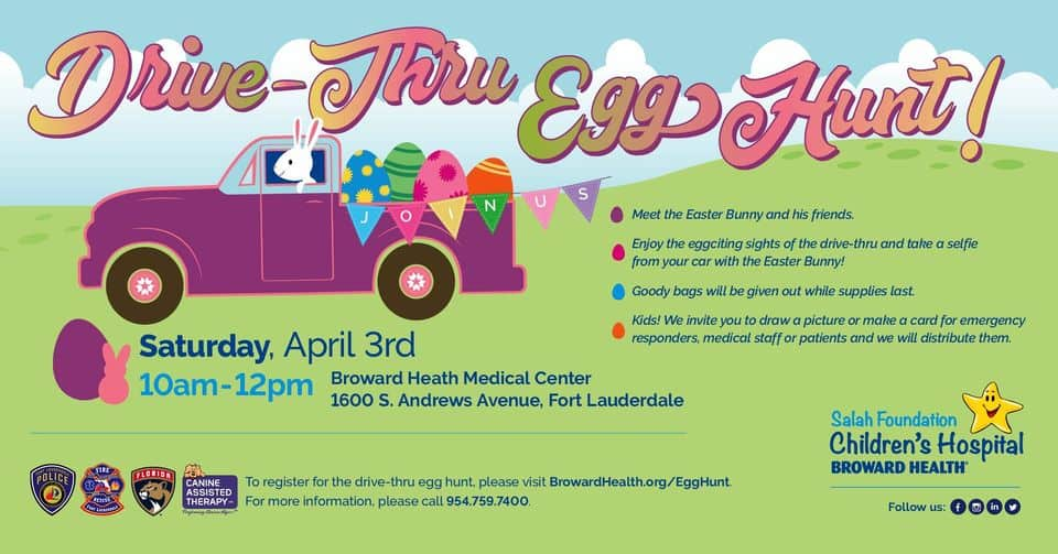 Broward Health - Easter Drive-Thru Egg Hunt