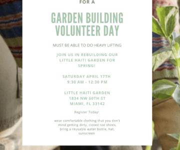 EARTH DAY Garden Building