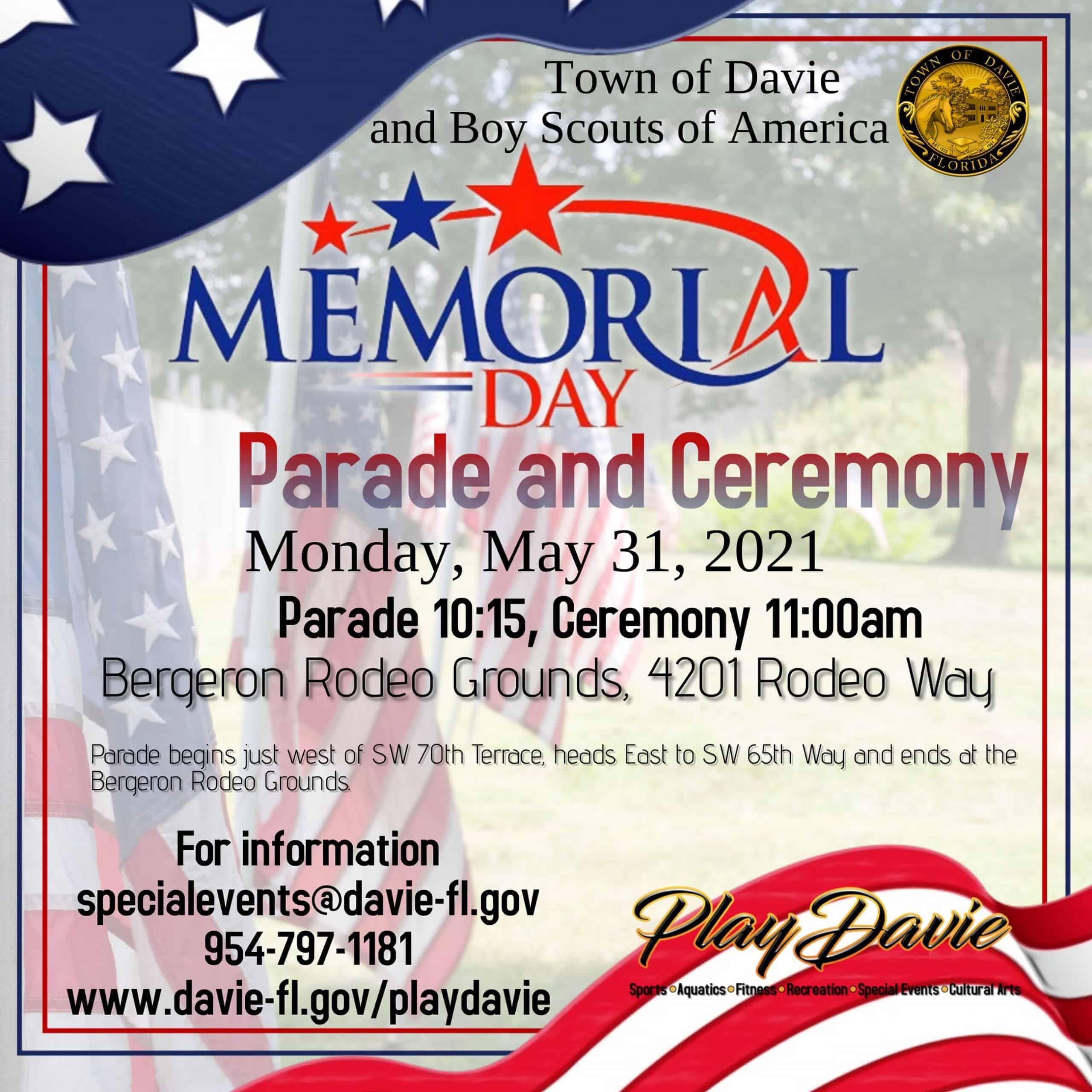 City of Davie - Memorial Day Parade and Ceremony