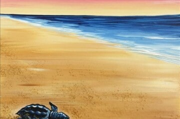 Painting With A Twist - Coral Springs - Back To The Sea