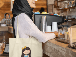 Tote Bag - Medium - lady
