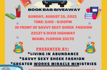 """2ND ANNUAL """"TOGETHER WE ARE STRONGER"""" DRIVE UP BOOKBAG GIVEAWAY"""