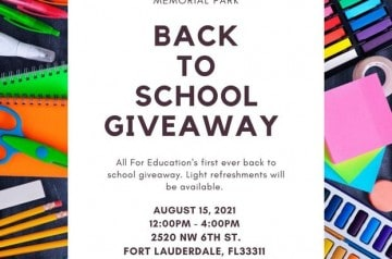All For Education - Back To School Giveaway - Fort Lauderdale