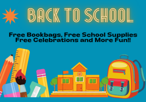 Back To School Events, Free Backpacks, Free School Supplies, Bashes