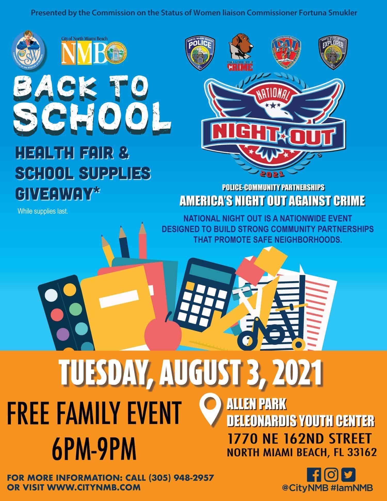 City of North Miami Beach - Health Fair - Back To School