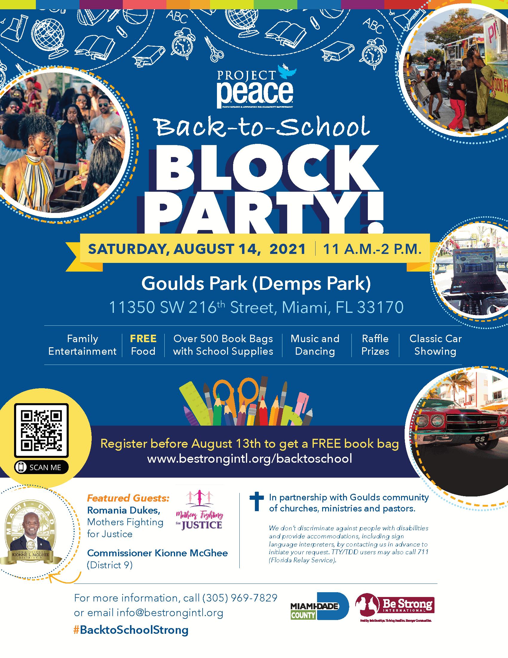 Back-To-School Block Party! @ Goulds Park (Demps Park)