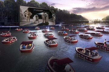 Jupiter Pointe Club and Marina - Boat-In Movie Theater