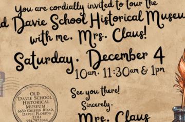 Old Davie Museum - Meet Mrs Claus