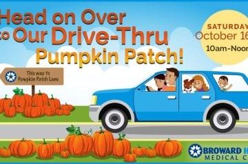 Broward Health - Drive-Thru Pumpkin Patch Drive Thru 2021 - Fort Lauderdale
